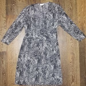 Jaclyn Smith Animal Print Wrap Dress